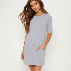 PLT Basic grey tshirt dress with pockets